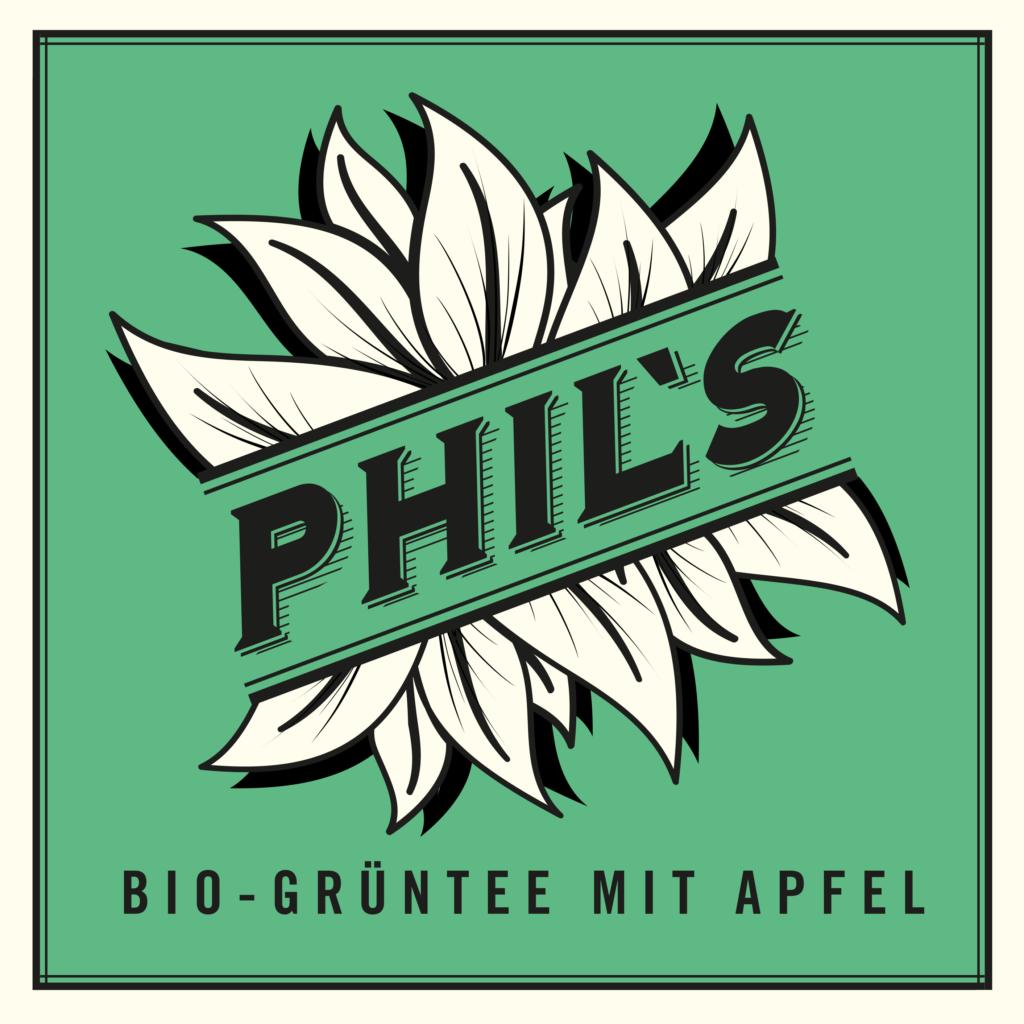 Phils Eis Tee Logo Bio Grüntee mit Apfel